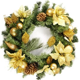 Poinsettia Wreaths