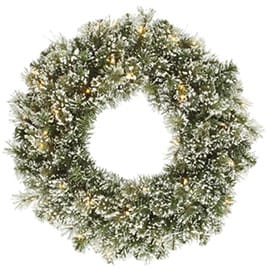 Flocked & Frosted Wreaths