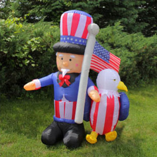 Inflatable 4th of July decorations