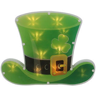 St. Patrick's Day leprechaun hat light