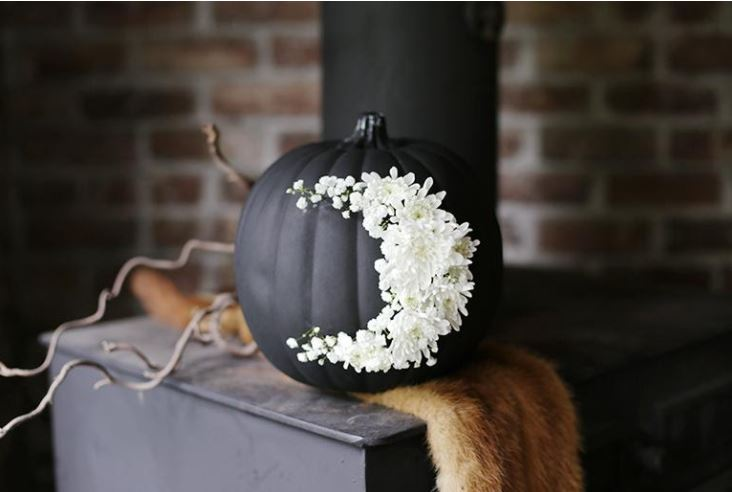Floral Moon Pumpkin