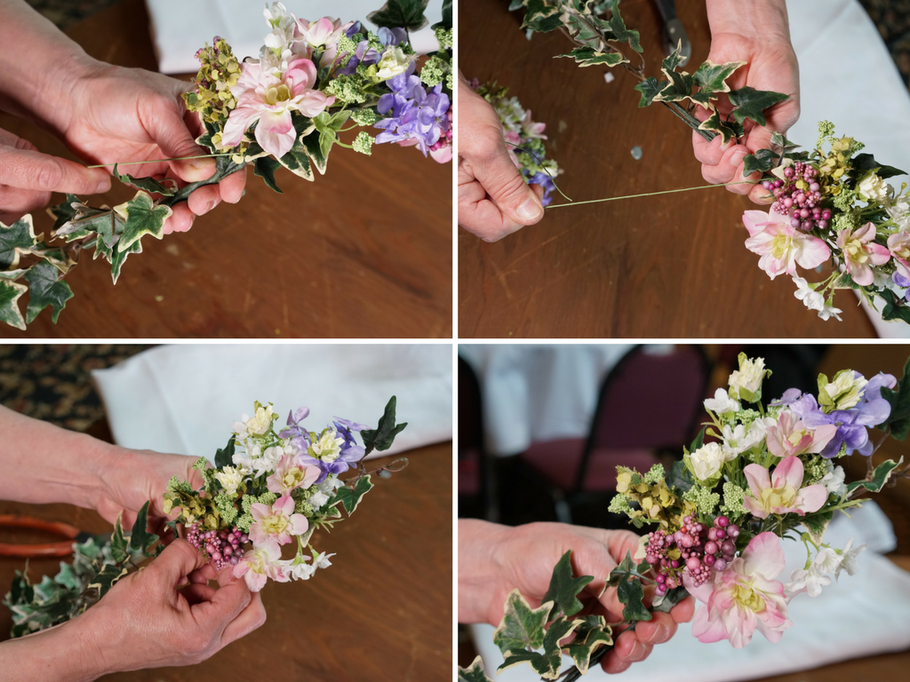 artificial flower crown diy
