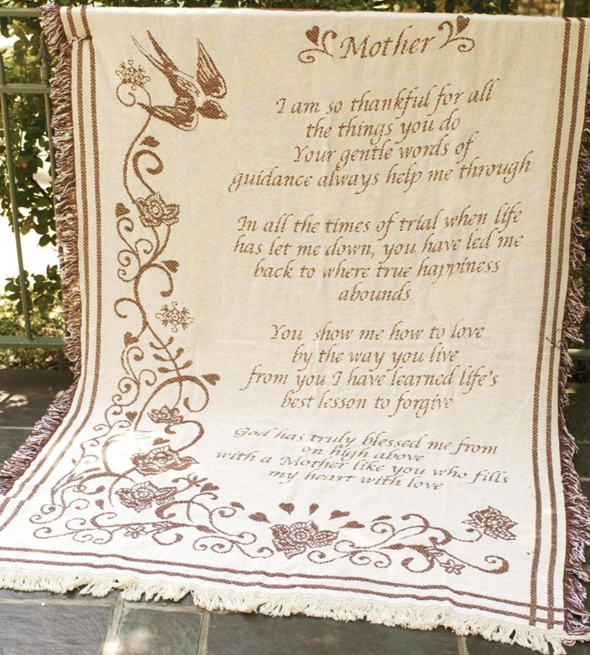 Mother's Day Throw Blanket