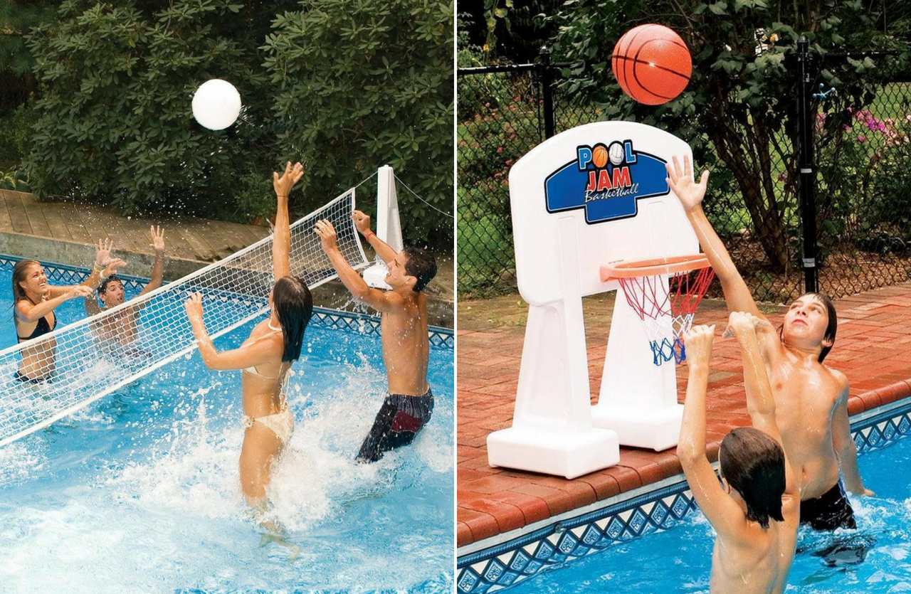 Floating Volleyball Pool Game