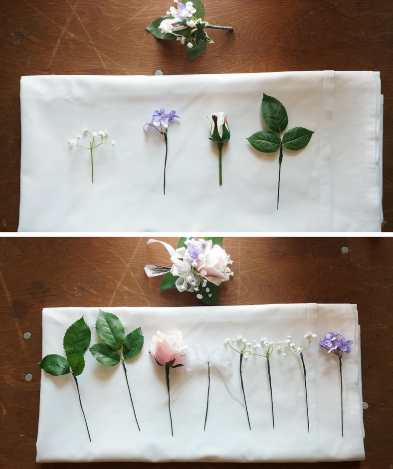 How to make your own silk flower boutonniere christmas central make your own wedding boutonniere mightylinksfo Choice Image