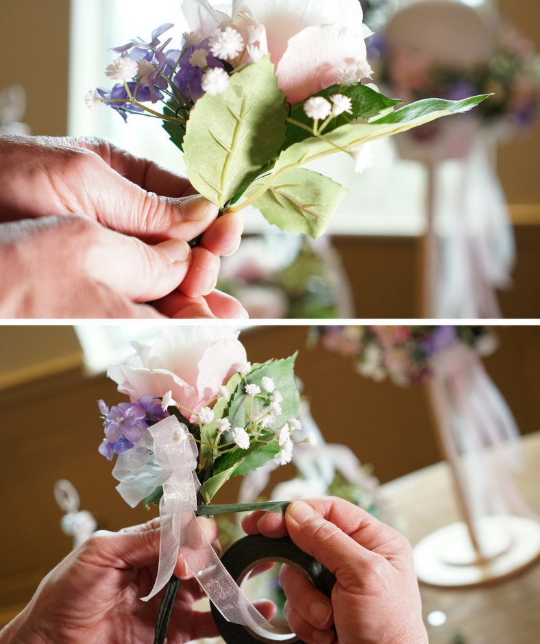 diy make your own wedding boutonniere